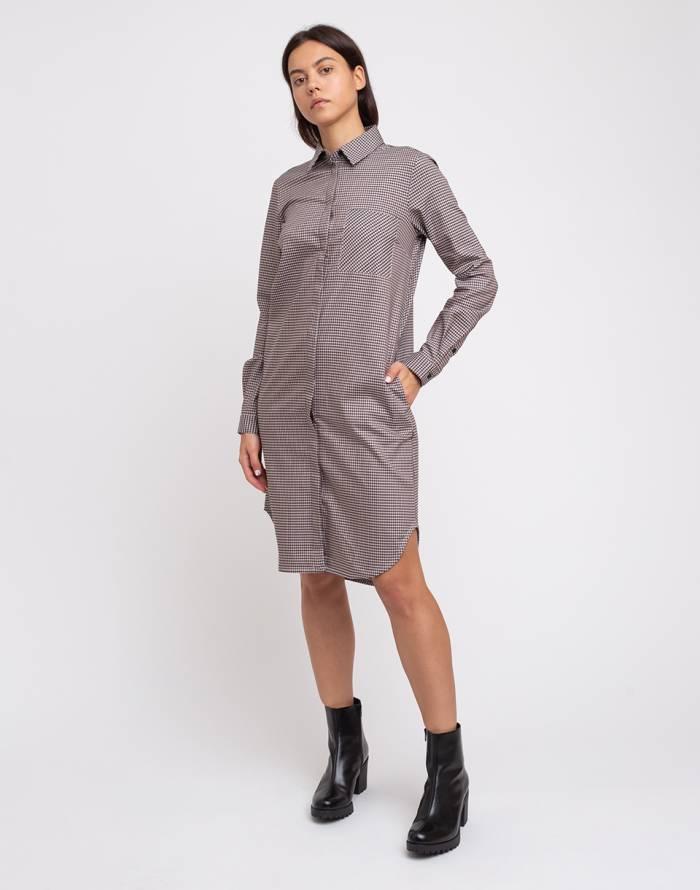 Kleid Armedangels Ulrikaa Pkt Microcheck Freshlabels De